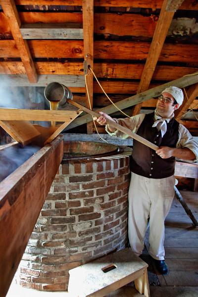 Genesee Country Villages Museum, July 18, 2010.  Making Beer