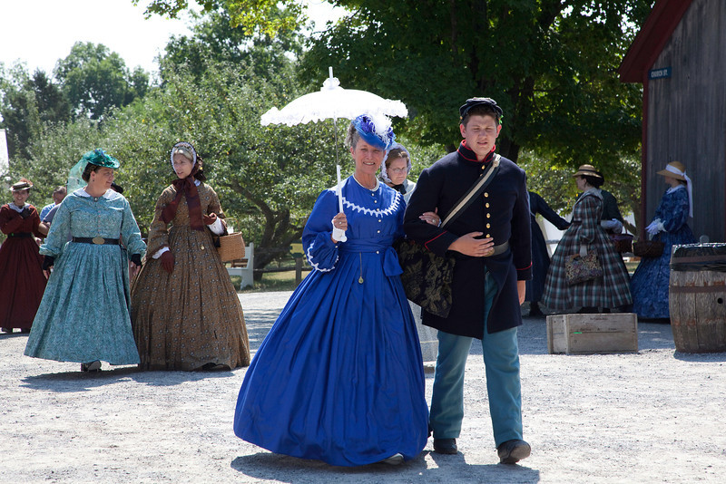 Nice image but girl in blue is not in period dress.