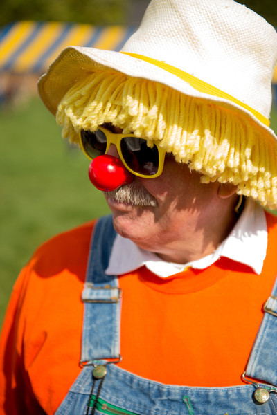 Tractor Clown at Ag Fair