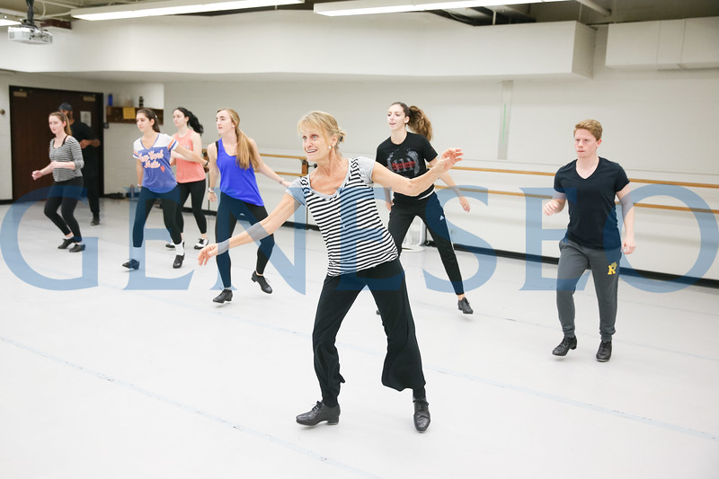 Katherine Kramer guest artist tap dancing dancer hosted by orchesis dancers KW