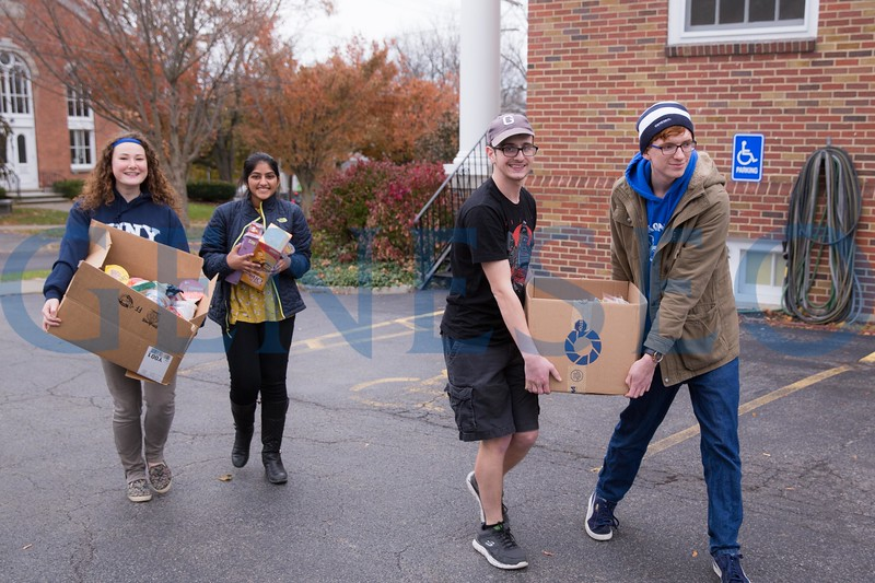 The Food Security Advocates (FSA) is a unique student led group that partners with Geneseo's Center for Community and the Office of Student Volunteerism and Community Engagement to address food insecurity on campus and in the Geneseo community. Their efforts include two end of semester food drives which collect non-perishables to be distributed to local schools and youth programs that serve low income children and families. The organization also works with the Geneseo-Groveland food pantry to deliver collected food to families in need in the village.