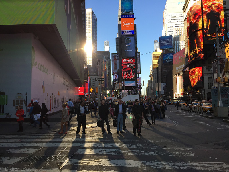 Natural, reflected and artificial lights -  Times Square - NY