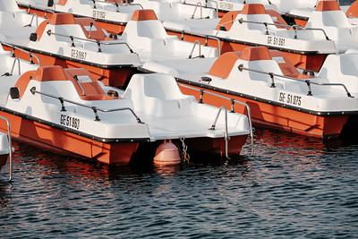 Pedalo, pedal boats in lake Geneva