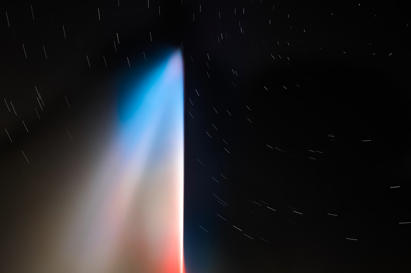 Jet d'eau bleu blanc rouge in memory of the terror attacks in France