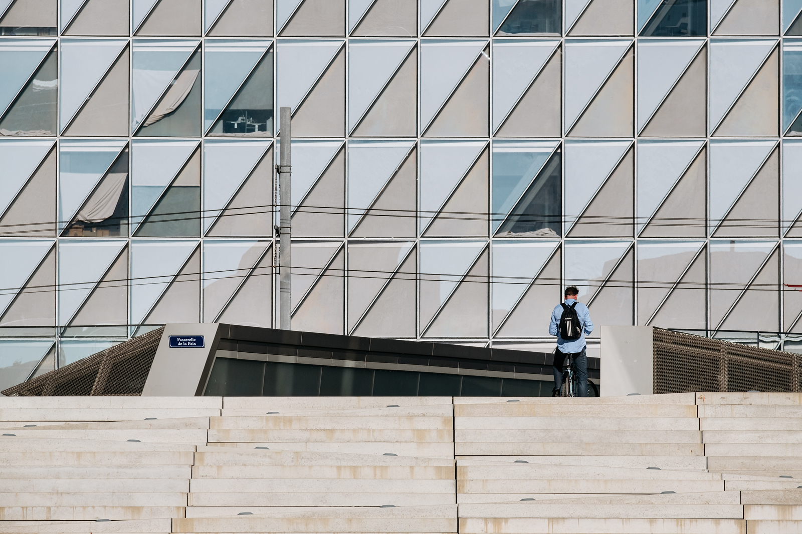 A man in front of the JTI headquarters in Geneva