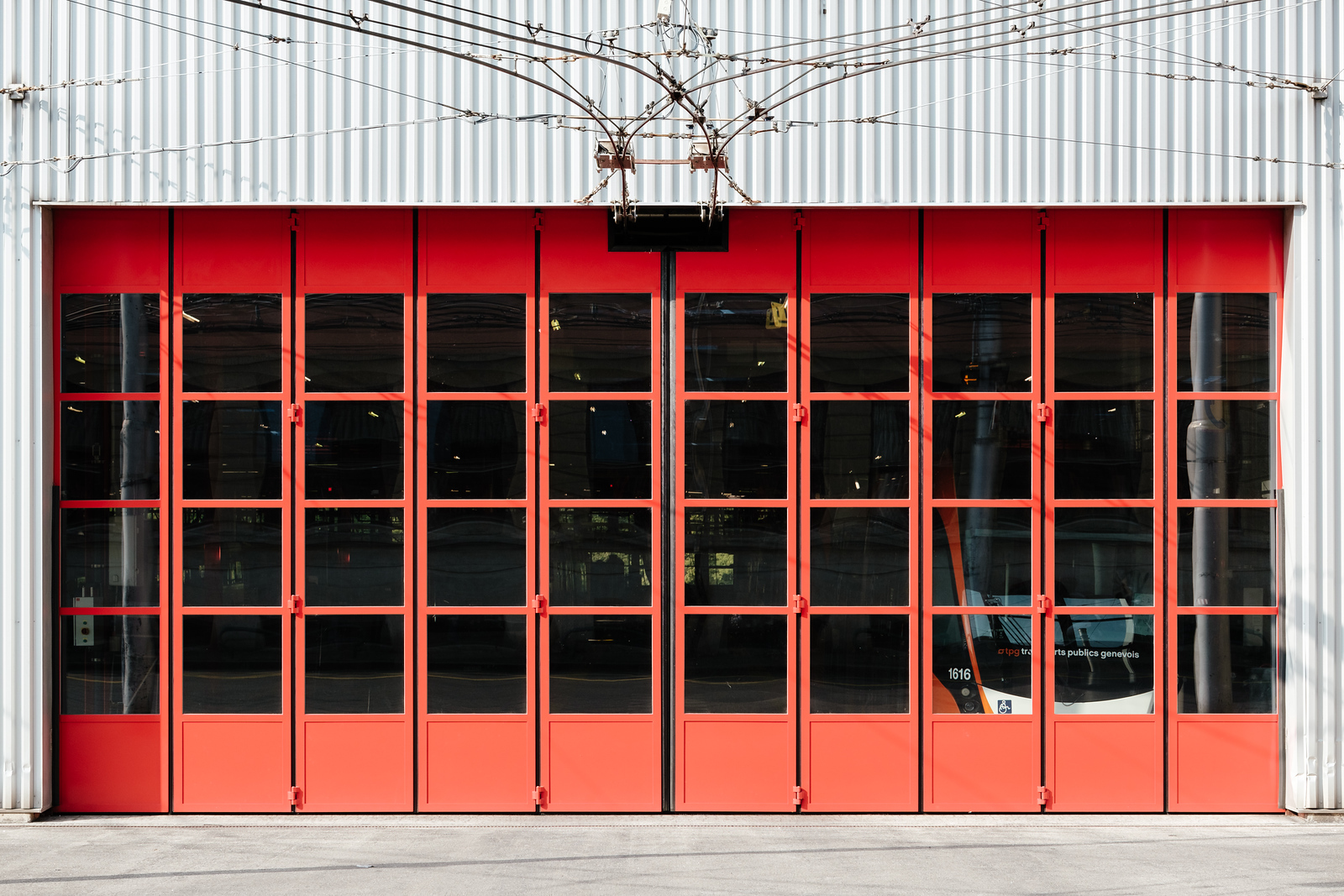 TPG trolley bus warehouse