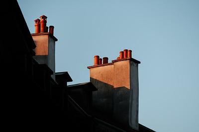 Chimney in Geneva old town