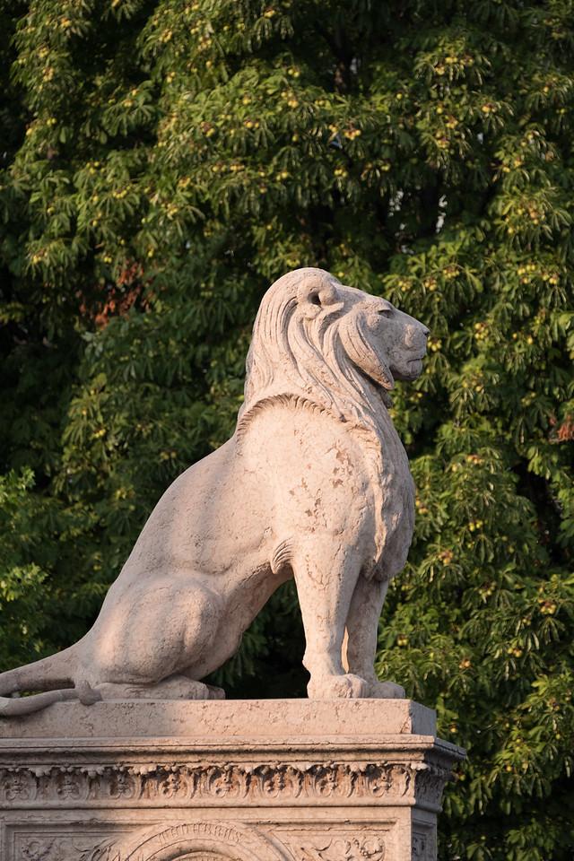 Lion sculpture at monument brunschwig
