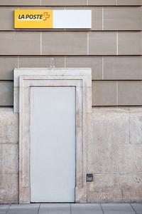 Post office door closed