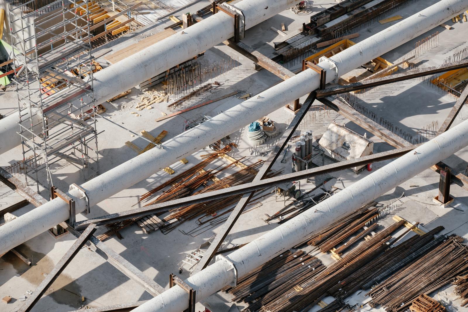 Construction site at Lancy Pont Rouge Geneva