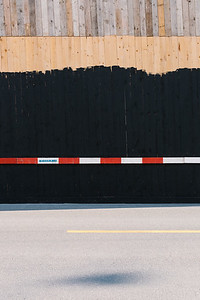 Construction site fence in Geneva