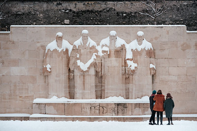 Reformation wall under the snow
