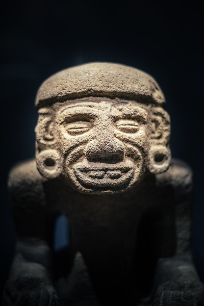 An ancient sculpture at the Musee d'ethnographie Geneva