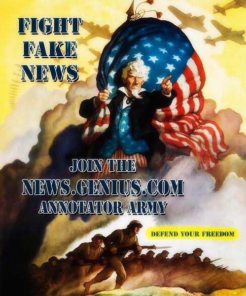 Genius Annotator Army Posters