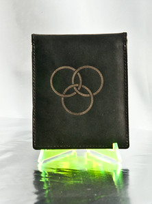 Laser etched wallet
