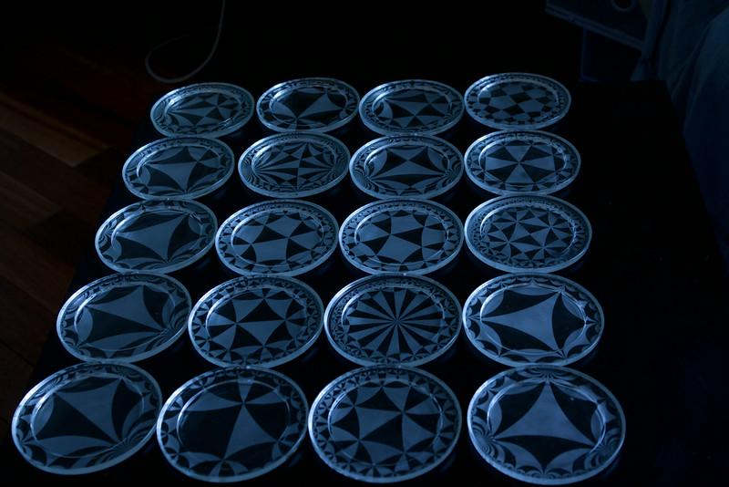 Poincare disk coasters