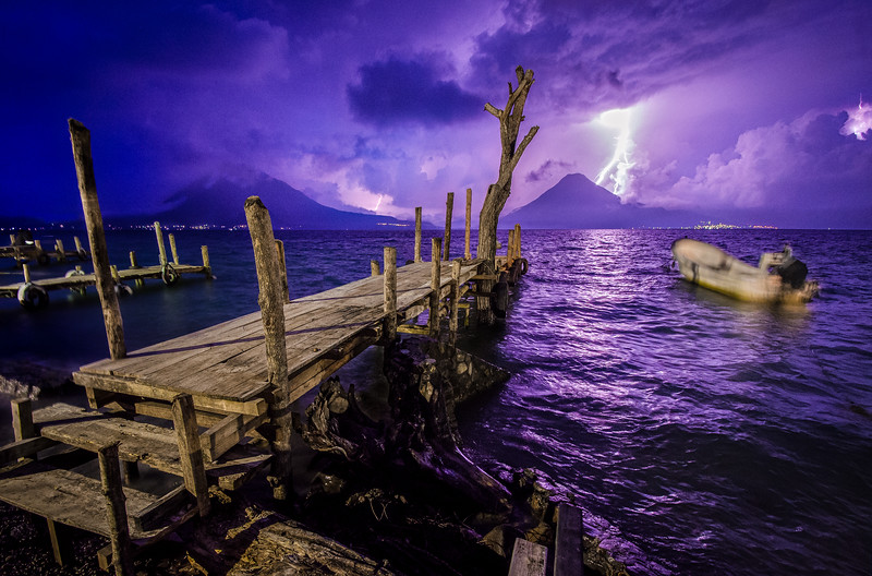Lightening on the Volcano