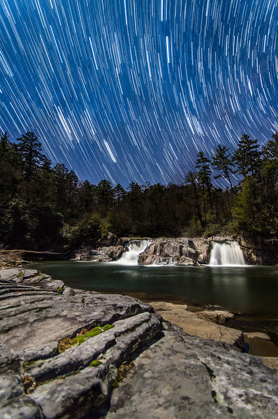 Linville Fall Startrails