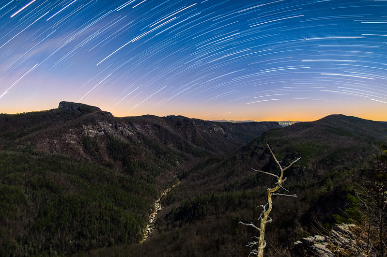 Linville Gorge Star Trails