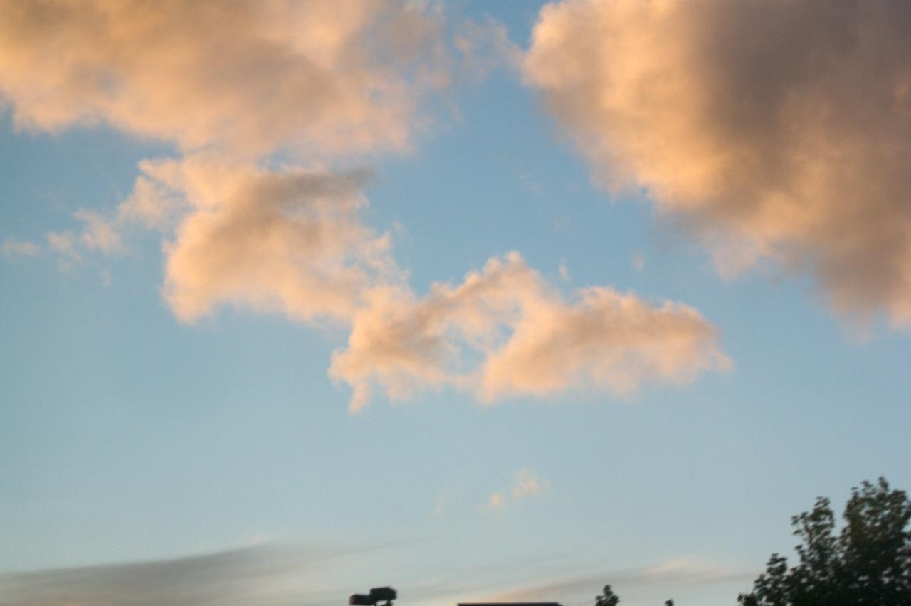 Rosy sky over San Mateo