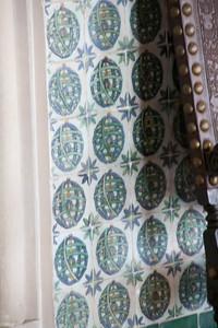 Wall and frieze patterns at the Palacio Nacional in Sintra