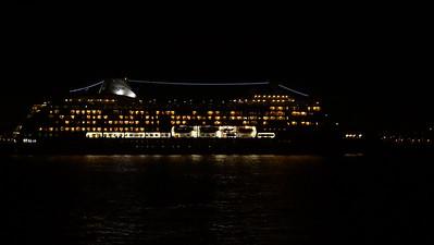 Cruise ship leaving NYC