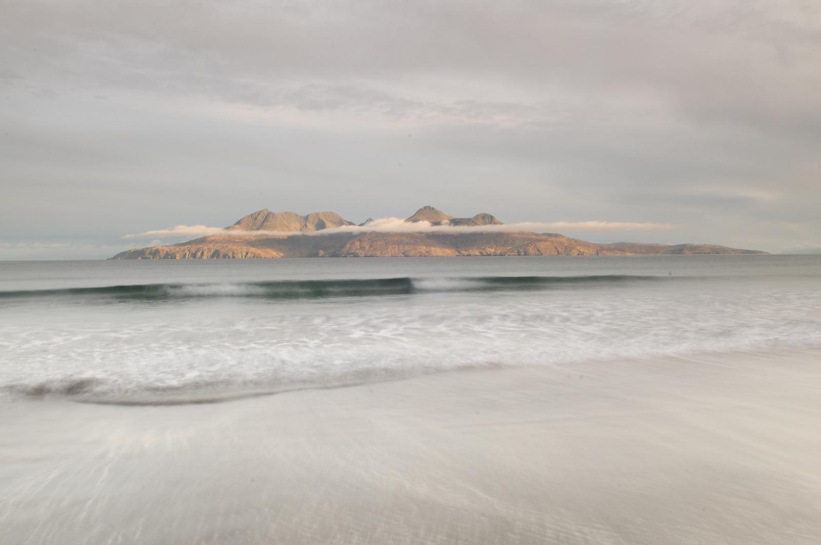 Rhum sunrise (from Bay of Largs on Eigg)