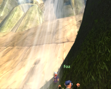 Silki and Foz below the dam