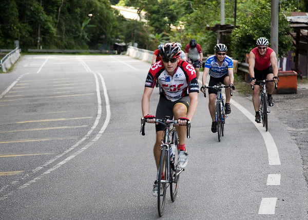 Lee leading the way - a familiar sight (although Gareth actually charged away just after this photo, but the hill soon took care of that).