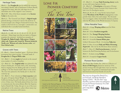 Lone Fir Pioneer Cemetery, The Tree Tour, Side 1