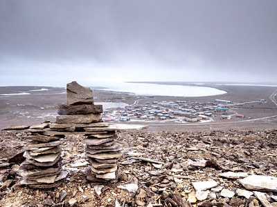 Inuksuk overlooking Resolute