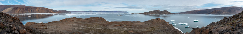 Thorvald Peninsula to Skraeling Island to the mainland