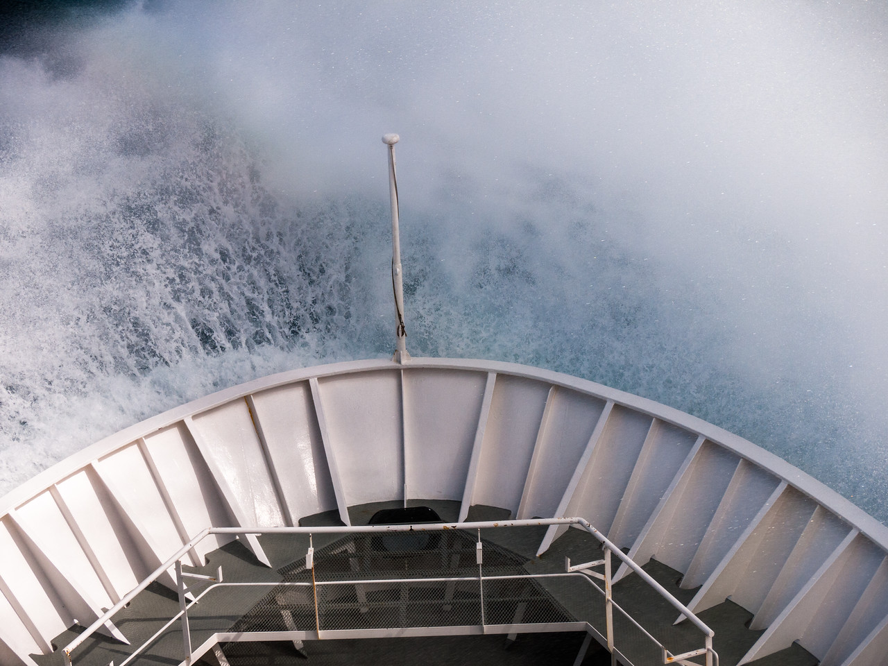 Crossing the Drake Passage sheaded south