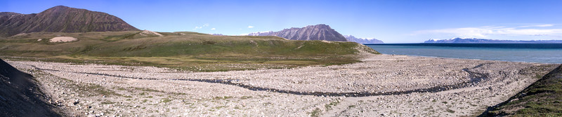 Bylot Island With Baffin Island in the distance