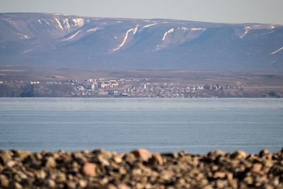 Pond Inlet over 24 kilometers from Camp - Clear no pollution skies