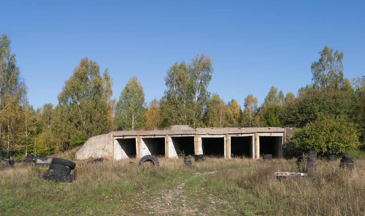 Missile hangar in the Piiri forest missile base