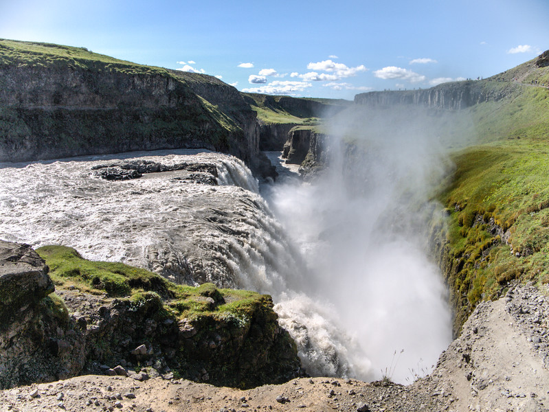 Gullfoss looking downstream
