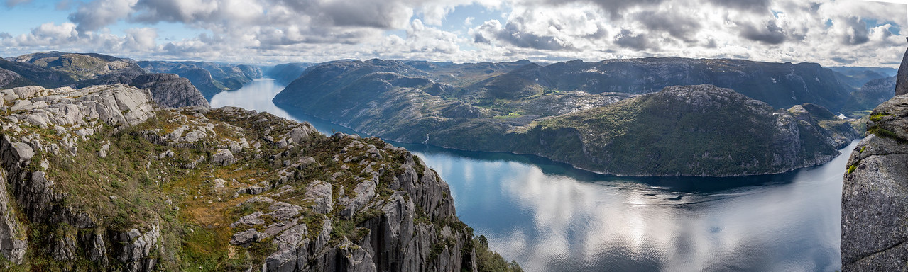 lysefjord Fjord from  Preikestolen