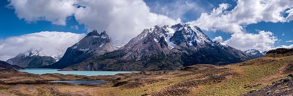 Paine Grande Hill and Cuernos del Paine Torres Del Paine