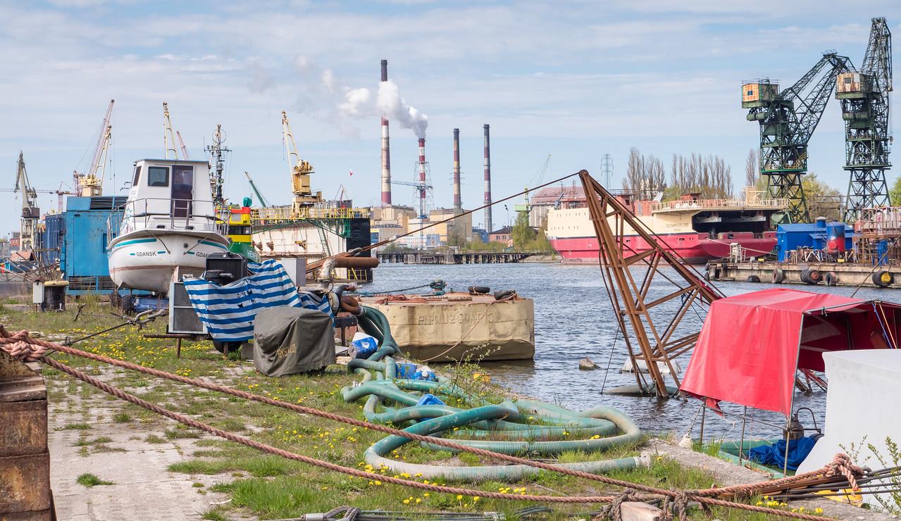 """""""Stocznia Gdańska"""" (Gdańsk Shipyard)."""