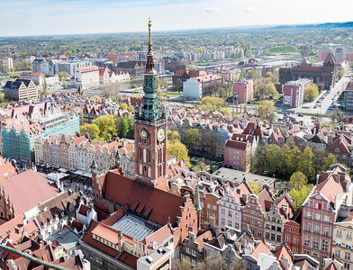 Panoramic view form St. Mary's Cathedral, Gdansk