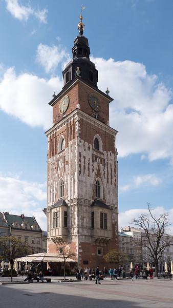 Krakow Town Square Clock Tower
