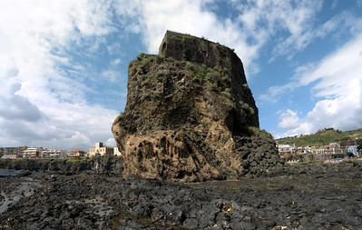 Aci Castello looking back at the town