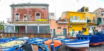 The fishing fleet at Aci Castello