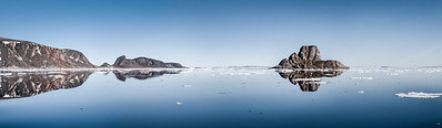 Reflections of the seven islands Svalbard