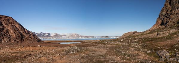 Hiking in Kings Bay Near Ny-ålesund,
