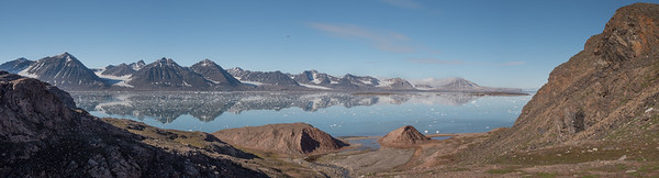 Looking across Kings Bay Near Ny-ålesund,