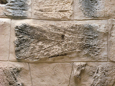 Crossbedding in Sandstone Building blocks