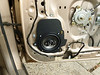 """Aftermarket speaker and speaker adapter plate from  <a href=""""http://www.car-speaker-adapters.com/items.php?id=SAK090""""> Car-Speaker-Adapters.com</a>"""