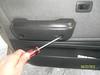 Removing door pull screws